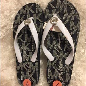 Michael Kors New  MK Flip Flop PVC/Jet Set